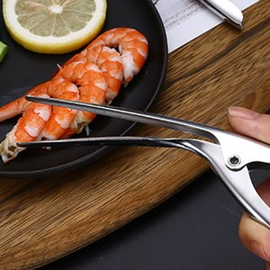 Lobster Scissors 3 Steps Quick Peeler Shrimp Scissors Creative Prawn Shell Seafood Tools Restaurant House Kitchen Lobster Scissors BH0523 BC