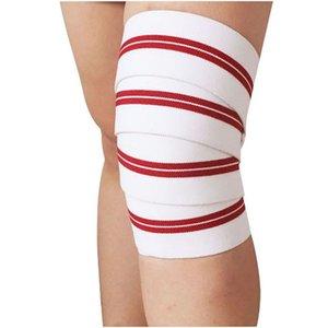 Aolikes Haltérophilie coude élastique Bandage pour le genou jambe formation soutien Wraps sangles genou Tapis d'extérieur