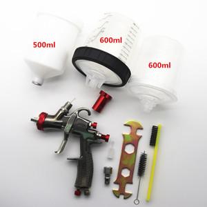 R500 пистолет-распылитель высокого качества адаптер LVLP SPRAY GUN подачи самотеком воздуха чашки PPS с Смешивание чашки No-чистый бак