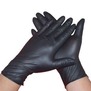 Hot Leshp 100pcs lot Mechanic Nitrile Household Cleaning Washing Black Laboratory Nail Art Anti-static Gloves