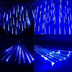 Lumières de barre LED tombant Tube LED TUBE EXTÉRIEUR DE NOËL EXPLOITS 8 PCS / SET 30CM BLUE US PLUG CA 110-240V Home Holiday Art Decor -L