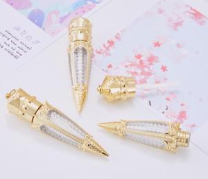 3 ml boş değnekler şekli altın plastik dudak parlatıcısı tüp, güzellik açık kraliçe lipgloss konteyner, havuç değnek ruj şişesi epacket ücretsiz