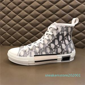 Top Quality high-top dei pattini casuali della scarpa da tennis Fiori ricamo tecniche di tela B23 Oblique formatori Womens Mens Sneakers Chaussures 3 S01