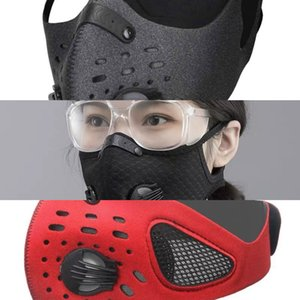 Training Face Sports Cycling Mask Outdoor PM2.5 Anti-pollution Running Mask Activated Carbon Filter Z8NA