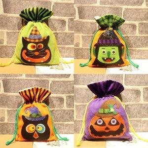 f23zS Pouch cm Tasche Halloween Frohe Weihnachten Kordelzug Sack Snack OrnamentsCanvas Süßigkeit Tasche Dekorationen Geschenk Weihnachts