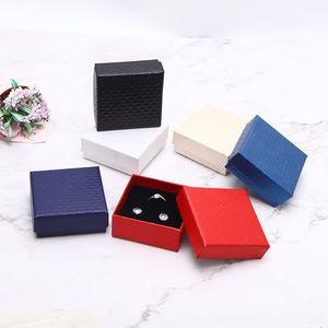 Motif bijoux collier haut de gamme boucles d'oreilles boîte de boxgift anneau peut être imprimé boîte de bague xh6mc