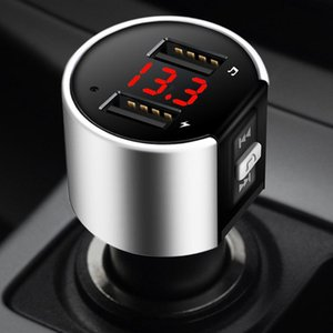 Handsfree Bluetooth 4.2 FM Transmitter Modulator Car Charger 3.1A Dual USB Adapter Car MP3 Player Wireless Audio Receiver Black