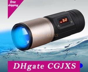 Poderosas lanternas de LED 4 Luz de cor roxa Azul Branco Amarelo 3 modos Waterproof Farol Flash Light Flishing