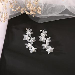 Mix Styles Fashion Long Chain Tassel Dangle Drop Statement Earring Bohemian Resin Flower Earrings For Women Wedding Gifts