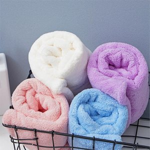 Microfiber Bath Towel Wrap Quick Drying Towel Cap Hat Soft Water Absorbent Hair Wrap Shower Cap with Button for Wet Hair