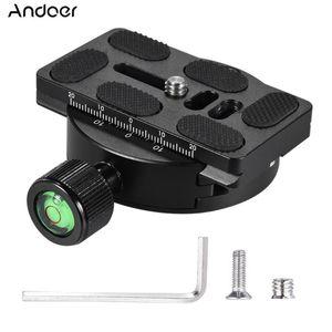Andoer KZ-40 Universal-Aluminium-Legierung Stativkopf Disc Clamp Adapter w / PU-70 Schnellwechselplatte Kompatibel für Arca Swiss