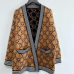 2020 Womens Designer Strickrundhalsausschnitt Rot Weiß Schwarz Panelled Designer Pullover Marke Bump Blusen Pullover Frau Kaschmir-Pullover