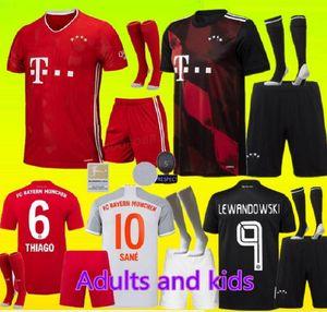 Adultos y niños 20 21 Bayern Múnich kit de Fútbol 2020 LEWANDOWSKI conjunto 2021 HERNANDEZ Coutinho uniformes hijo adulto completa de Fútbol