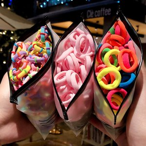 50 100 Pcs Bag New Children Baby Cute Colorful Soft Girls Lovely Ponytail Holder Rubber Bands Kids Hair Accessories