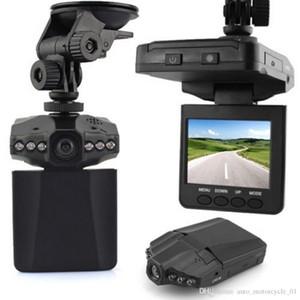 Coche de la cámara HD DVR del registrador 6 LED carretera Dash videocámara video LCD 270 coche granangular de detección de movimiento DVR del grado Avión Cabeza envío
