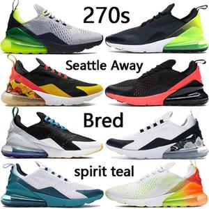 Novas 270S mens tênis universitário branco espírito vermelho da cerceta traque Preto Gradiente criados sejam verdadeiros homens mulheres sapatilhas US 5,5-11
