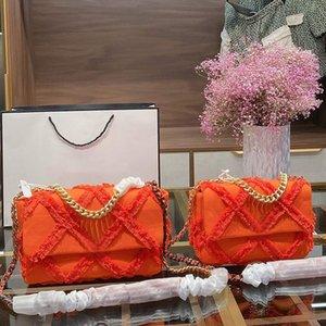 سلسلة حقائب CROSSBODY موضة واحدة الكتف رسول حقيبة حقيبة نمط كلاسيكي الماس شعرية قماش الأجهزة سلسلة سيدة محفظة حقيبة يد