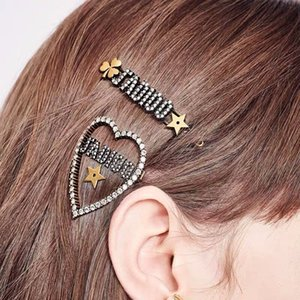 Même style haut en épingle à cheveux à la maison D pince coiffure di fille à la maison bangs front bord clip live célébrité en ligne