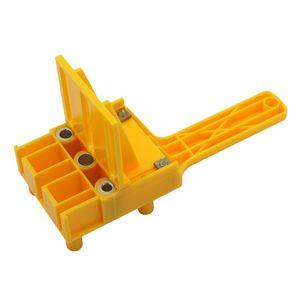 Handheld Carpintaria doweling Jig Broca Guia Madeira Dowel Drilling Buraco Saw Bits F1CD