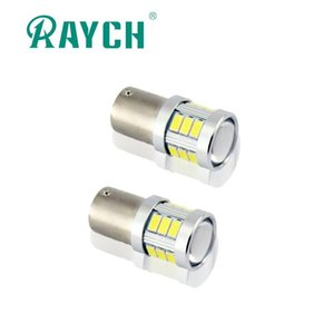 Raych LED Car Lamp 1156 BA15S 7506 P21W 1157 BA15D 3156 3157 7440 7443 White Amber Red Reverse Turn Brake Corner Light CANBUS