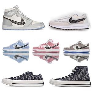 Converse 1970S Nike air jordan retro 1 AJ Sacai x ChristianDIORoblique Waffle Daybreak Wmns SB DUNKS Low Pro Oblique Pink Blue Grey casual Shoes