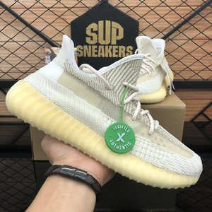 TOP Quality 2020 Kanye West Men Women Running Shoes Zebra Cinder Tail Light Reflective Israfil Asriel Linen Mens Trainers sneakers with Box