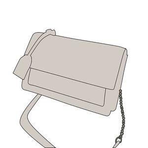 Donne Borse a tracolla in vera pelle di pecora a catena in pelle losanga Borse metallo sacchetto portatile di cuoio genuini Borse diagonali