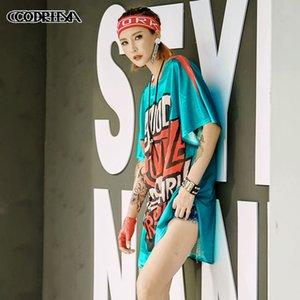 T-shirt hop das mulheres da moda hip Cooreena tendência Rua nova venda quente
