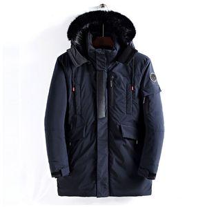 2020 New Winter Jacket Men Thicken Warm Cotton-Padded Jackets Men's Long Hooded Windbreaker Parka Plus Size Jacket Men Outwear