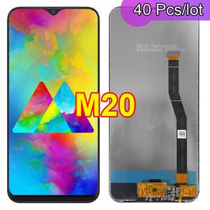 40pcs / lot m20 100% Testé original Super amolé pour Samsung Galaxy M20 M205 M205F LCD écran tactile écran de numérisation de numérisation