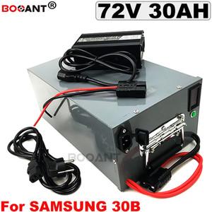 72V 30Ah Electric bicycle Lithium battery pack for Samsung 18650 30B 1500W 2500W 3000W 72v bike + a metal box