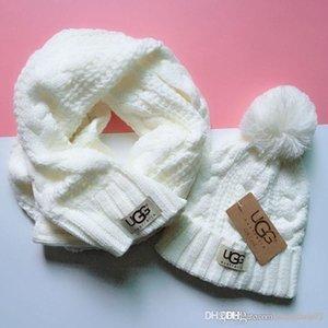 Sıcak moda markasının yojojo erkekler ve kadınlar kış yüksek kaliteli sıcak eşarp şapka takım tam şapka sıcak örme