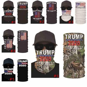 Trump Masks American Election Printing Turban Suncreen Magic Kerchief Scarf Dustpoof Scarves Outdoor Party Mask IIA427