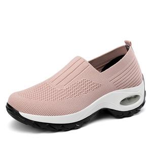 VEAMORS pattini casuali delle donne Moda traspirante piedi scarpe Outdoor Mesh Weave piana femminile di aumento di altezza Athlé Sneakers