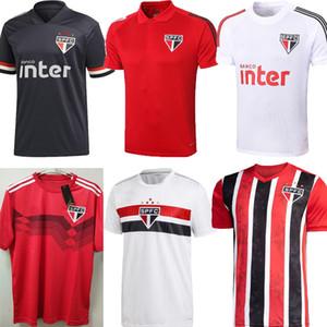 adulte 20 21 Sao Paulo FC maillot de football gardien PABLO PATO 2020 DANI ALVES 2021 Sao Paulo formation de football noir rouge Polo