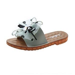 viento Hada del verano de 2020 nuevas sandalias de las mujeres al aire libre de estilo coreano-suelas planas-suaves con suela antideslizante y zapatillas Zapatillas similar a la margarita sandalias jtJr