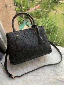 Nouveau Top 5A Qualité de cuir véritable 41056 Sac à bandoulière en cuir de vache messengerbag Sac classique carré de 3 tailles Mode / LLLL de sac à main Mode féminine