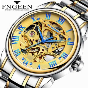 2020 New Fashion Stainless Steel Skeleton Mens Watches Male Automatic Watch Mechanical Clock Hollow Relojes Hombre