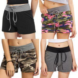 Fitness Sporttraining Dry Weibliche Stretch Lauf kurze Hosen Sexy Mini Slim Gym Jogginghose Trainings-Kleidung American Flag Woll # 5231