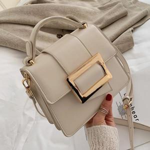 Kadın Moda Kemer Toka Tasarım PU Deri Messenger Bag 2020 Mini Bir Omuz Çanta Kadın Seyahat Çanta Basit Stil