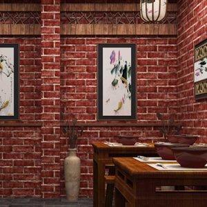 WELLYU papel de parede 3d Chinese retro imitation brick PVC wallpaper restaurant clothing store hotel living room wallpaper