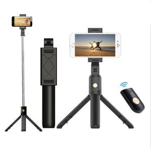 3 in 1 Mini Selfie Tripod drahtlos Bluetooth Selfie-Stick Ausziehbare Hand Einbeinstativ faltbare Mit Auslöser Fernbedienung für intelligentes Telefon
