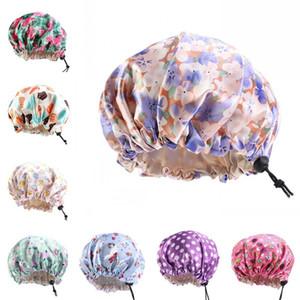 Regolazione bagno Baby Animal Hat Buckle Cura dei capelli cofani raso di seta Equipaggiata sonno Cappelli testa rotonda Wrap bagno Prodotti 5 7BA B2