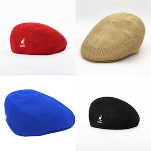 U9sj6 ins super caldo degli uomini il cappello di punta e berretto basco beretwomen del tutto-fiammifero Kangol berretto poliestere maglia canguro berretto a visiera elegante stessa Styl