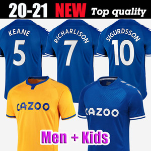 2021 KEAN لكرة القدم بالقميص 20 21 RICHARLISON سيجوردسون ايفرتون قميص كرة القدم 2020 أندريه غوميش KEANE BERNARD الكوت توسون الرجال الاطفال عدة