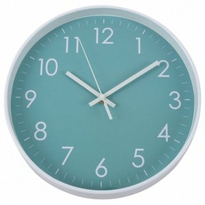 Modern Simple Wall Clock Indoor Non Ticking Silent Movement Wall Clock For Office,Bathroom,Livingroom Decorative 10 Inch T jyxe#