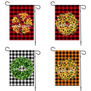 Bahçe Bayrak Jüt RufflesFlags Monogrammable Blank Banner Asma Bayrak Bahçe Süsleri Son # 239