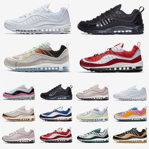 nike Air Max 98 airmax 98 shoes 2019 Nuevas ventas exclusivas UK GMT Zapatillas deportivas para hombres Mujeres Gundam Tour Amarillo-negro South Beach Runners Transpirable