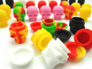 3ML Skull silicone container Food grade Silicone Non-Stick Dabber Sheets Dab Pad for Dry Herb Wax Oil