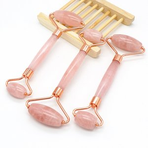 Natural Rose Quartz Roller High Quality Facial Massager Roller Jade